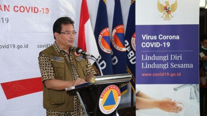 Ketua Tim Pakar Gugus Tugas Percepatan Penanganan Covid-19 Wiku Adisasmito saat memberikan keterangan di Graha BNPB, Jakarta, Jumat (3/4/2020).(Dok. BNPB)