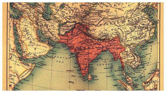 Wilayah British Raj pada 1909 dan negara-negara di sekelilingnya