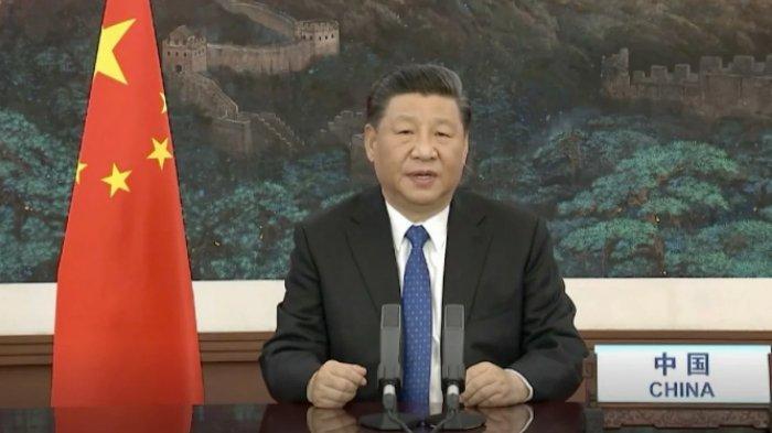 Presiden Cina Xi Jinping berpidato di pertemuan virtual Majelis Kesehatan Dunia pada hari Senin. Foto: AFP