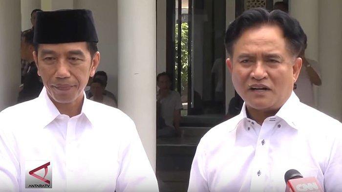 Presiden Jokowi dan Yusril Ihza Mahendra