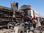 Tabrakan Kereta Api Mesir Tewaskan 32 Penumpang, Disebabkan Orang Tak Dikenal Tarik Rem Darurat