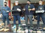 Ratusan Polisi Gerebek Kampung Narkoba di Palembang, Penemuan 1,5 kg Sabu Jadi Barang Bukti