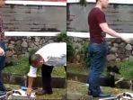 Viral Video Pria Bunuh Kucing karena Tak Suka Hewan Liar, Marah saat Diingatkan Petugas Keamanan