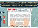 Peserta Wajib Cetak Ulang Kartu UTBK 2020 Lewat Portal ltmpt.ac.id, Ditutup Hari Ini Pukul 12.00 WIB