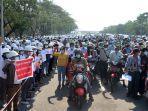 Warga Myanmar Lawan Kudeta dengan Mogok Kerja, Militer Siapkan Sanksi untuk PNS yang Ikut-ikutan