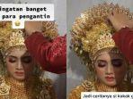 VIRAL Pakai Mahkota Seberat 4 Kg, Pengantin di Aceh Kelelahan dan Hampir Pingsan di Pelaminan