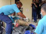 Jenazah Terikat Tangan dengan Rantai dan Beton Ditemukan di Banyuasin Sumsel