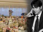 Ulang Tahun ke-33, Lee Min Ho Pamer Hamparan Hadiah dari Fans, Kesal Tak Bisa Tiup Lilin