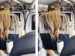 Video Viral Ditonton 97 Juta Kali: Marah, Wanita Ini Tempel Permen Karet ke Rambut Penumpang Pesawat