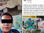 Sebuah Truk Kecelakaan di Cianjur, Seorang Pria Bangga Unggah Foto Barang Hasil Jarahan