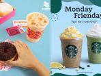 Promo Senin, Dunkin Donuts Gratis 4 Donat & 1 Minuman, Starbucks Beli 1 Gratis 1, Ada Juga Promo KFC
