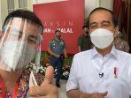 Sejarah Baru! Jokowi Jadi Yang Pertama Disuntik Vaksin Covid-19, Raffi Ahmad Perwakilan Milenial