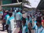 Ribuan Karyawan Pan Brothers Bakar Seragam Protes Aturan Gaji dan THR Dicicil, Videonya Viral