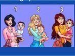 Tes Kepribadian - Mana Wanita yang Gendong Anak Orang Lain? Jawabannya Tentukan Karaktermu