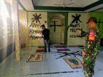 Pemuda 18 Tahun Lakukan Vandalisme di Musala Darusallam, Coret Dinding dan Robek Al-Quran