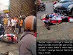 Viral Daihatsu Ayla Tabrak CBR 1000RR, Pengemudi Minta Damai dan Ganti Rugi 1 Unit Rumah dan Mobil