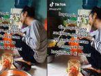 Viral Video TikTok Lelaki Menangis sambil Mengulek Sambal, Sedih Pesanan 60 Nasi Kotak Batal