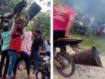 Viral Video Warga Lakukan Ritual Tolak Bala, Angkat Motor dan Geberkan Knalpot