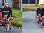 Galang Dana Rp 114 Juta Bantu Yayasan Kanker, Pria Ini Naik Sepeda Mini Anaknya Sejauh 354 Km
