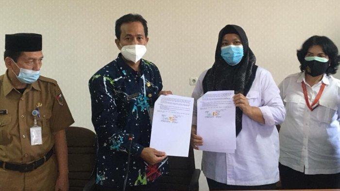 """Balai Anak """"Rumbai"""" di Pekanbaru menerima bayi dari kasus dugaan penjualan bayi dan adopsi illegal oleh oknum bidan di Kota Pekanbaru, Selasa (20/4/2021)"""