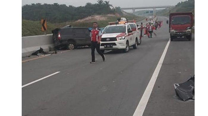 Kecelakaan di Tol Pekanbaru-Dumai (Permai) kembali terjadi, Rabu (13/1/2021) .