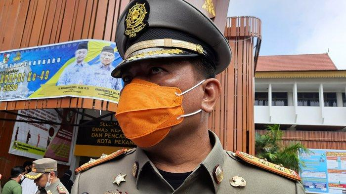 Kepala Satpol PP Kota Pekanbaru Iwan Simatupang