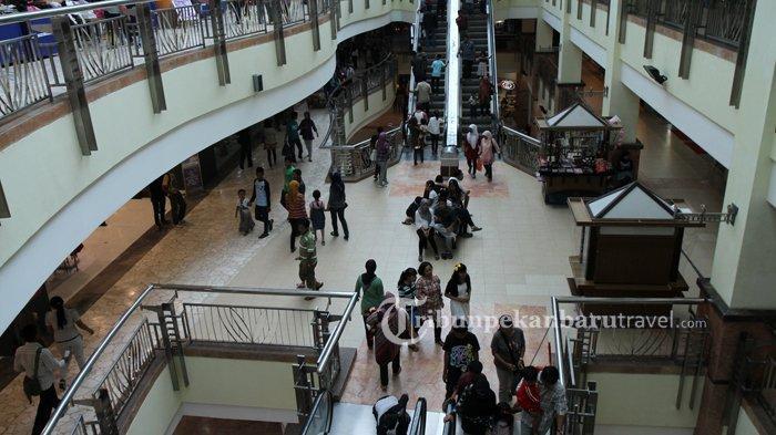 Pasca Penerapan Social Distancing, Kunjungan ke Mal di Pekanbaru Menurun, Jam Operasional Dikurangi