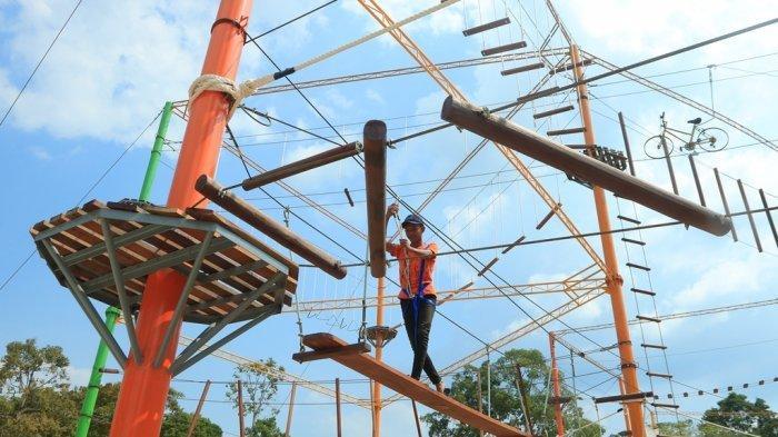 Objek Wisata Danau Tajwid di Kelurahan Langgam, Kecamatan Langgam, Kabupaten Pelalawan