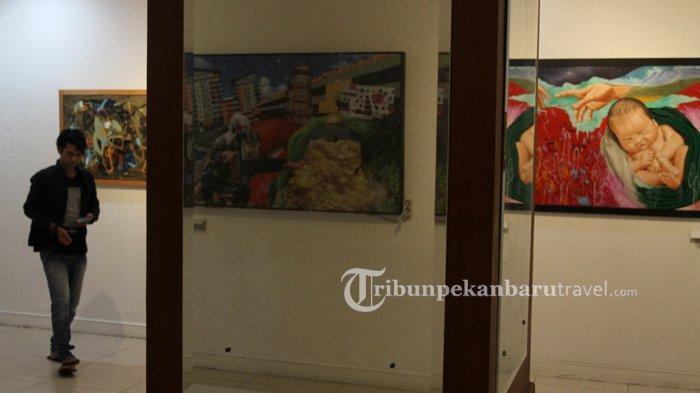 Komite Seni Rupa DKR Gelar Pameran Pajang Karya, Tampilkan 12 Karya Terbaik Perupa Riau