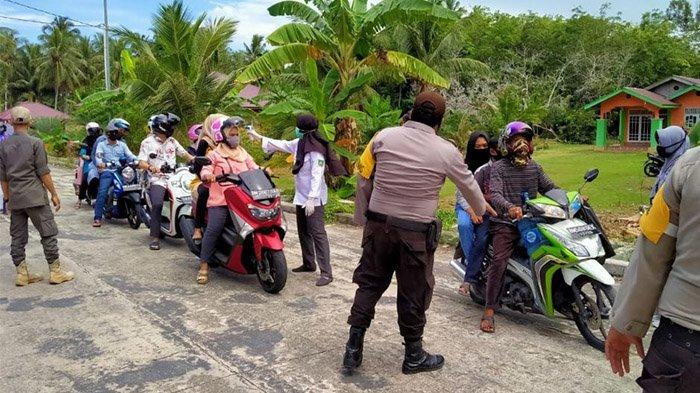Usai PSBB, Pantai Selat Baru Bengkalis Kembali Dibuka, Seluruh Pengunjung Diperiksa Sebelum Masuk