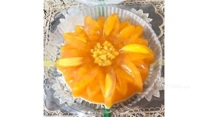 Puding vla mangga yang dijual secara online di @moy.puddingpku