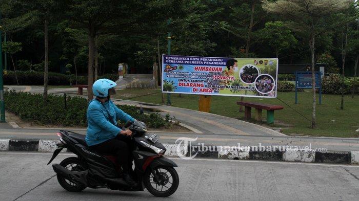 Pemko Pekanbaru Larang Warga Berkumpul di RTH Untuk Cegah Penyebaran Covid-19