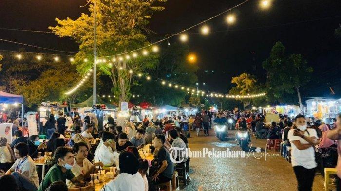 Street food Bundaran Keris Jalan Dipenogoro Kota Pekanbaru