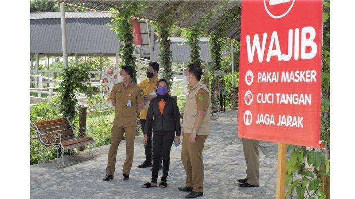 Tim Dispar Riau mengunjungi tempat wisata Asia Farm untuk melihat standar protokol kesehatan pencegahan Covid-19