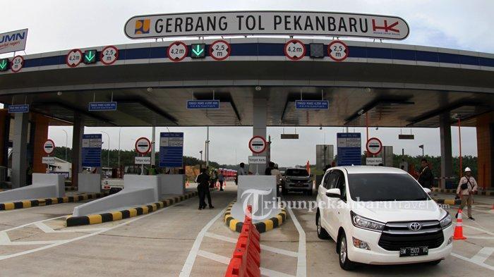 Badan Jalan Tol Pekanbaru-Dumai di Km 74 Turun Akibat Longsor, Target Bulan Ini Selesai Diperbaiki