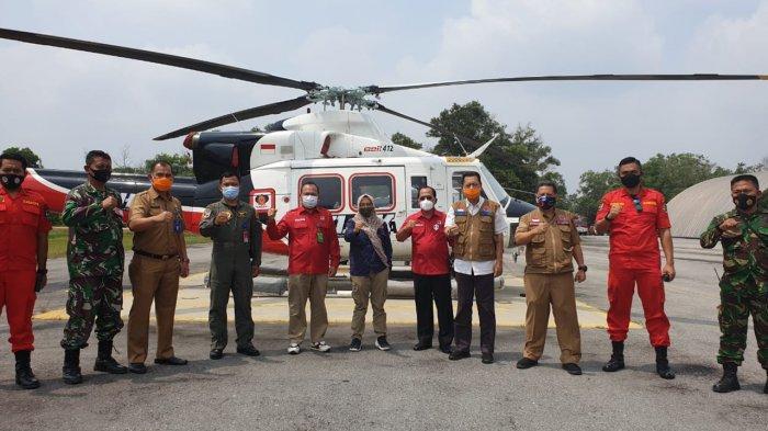 Atasi Karhutla di Riau, KLHK Pinjamkan Helikopter Bell-412