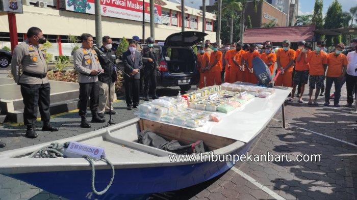 4 Daftar Pengungkapan Kasus Narkoba oleh Polda Riau Dalam 9 hari