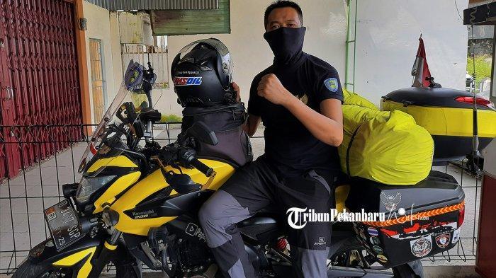 Bambang Sukmana, Kendarai Sepeda Motor Untuk Tunaikan Ibadah Haji 2021