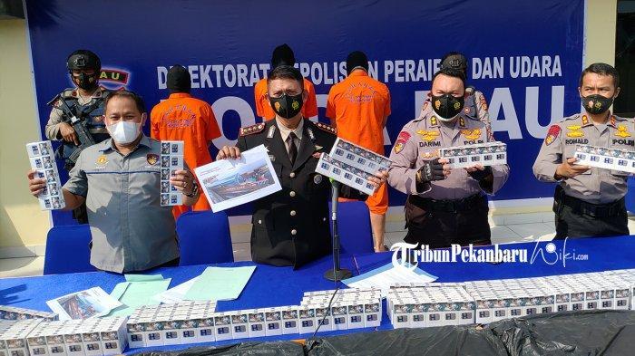 Polairud Polda Riau Sita 230.400 Batang Rokok Ilegal Tanpa Cukai