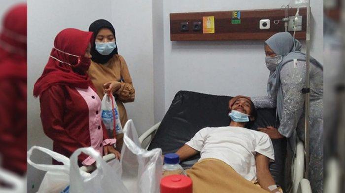 Paska Ditemukan , Horas Ipong menjalani perawatan di salah satu Rumah Sakit yang ada di Pekanbaru