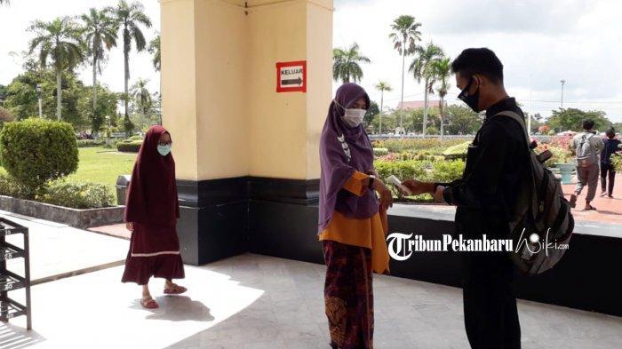 Pengunjung Istana Siak Wajib Patuhi Protokol Kesehatan
