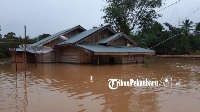 Ratusan Rumah di Kuansing Riau Terendam Banjir