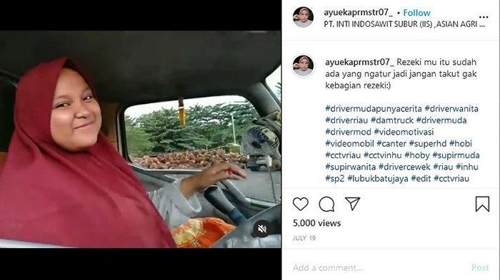 Tangkapan Layar akun instargam Ayu Eka Pramestari