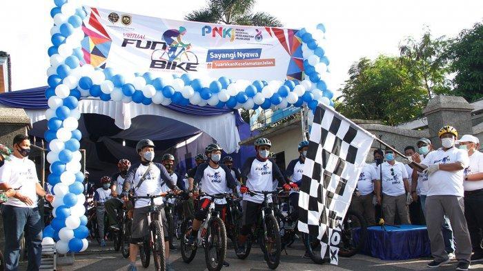 Virtual Fun Bike 10 Km di Pekanbaru Riau