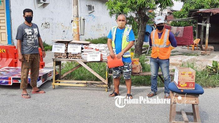 Warga Dumai Riau Lakukan Lockdown