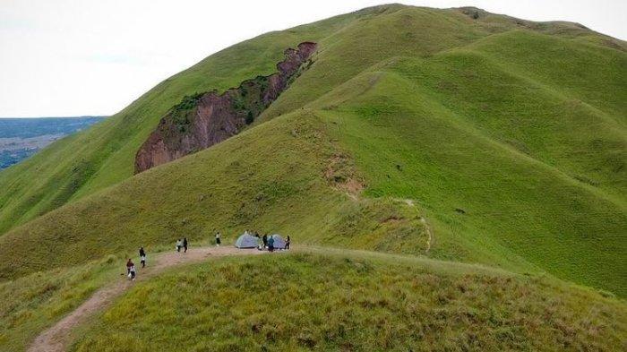 Tempat wisata bernama Bukit Holbung di Kabupaten Samosir, Sumatera Utara.