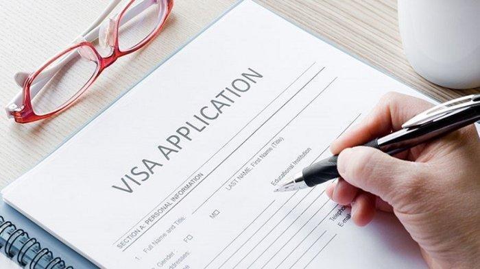 Ilustrasi aplikasi pengajuan visa