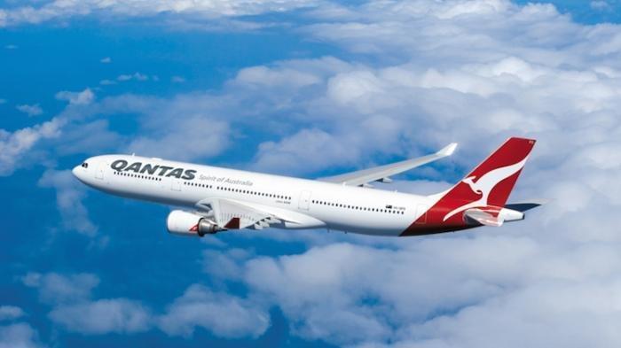 Maskapai penerbangan Qantas.