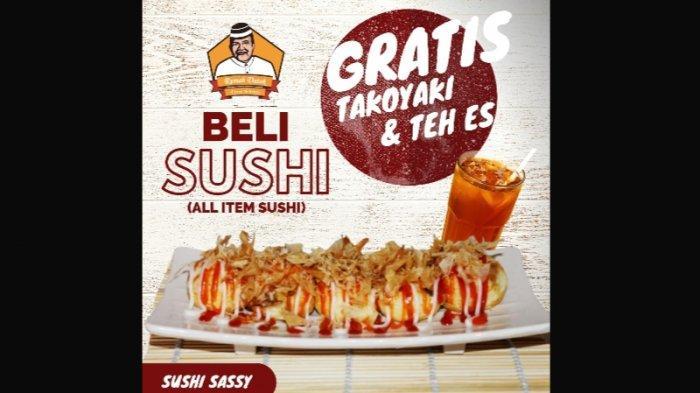 Wah Rumah Datok Berikan Promo, Beli Sushi Dapat Banyak Gratisan!