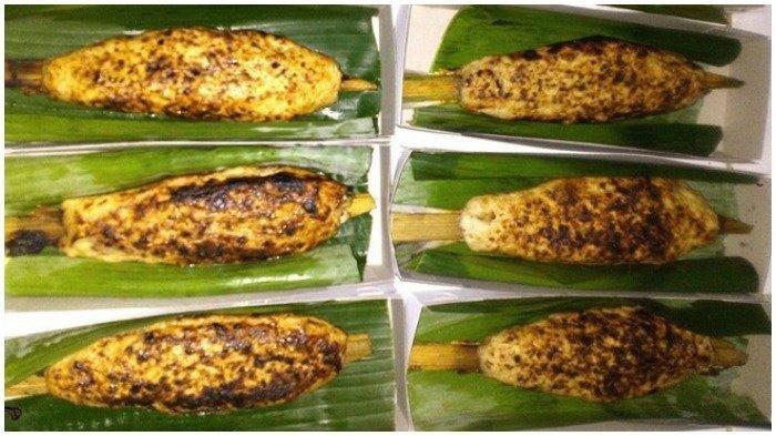 Ilustrasi kuliner Sate Bandeng khas Serang, Banten, Jawa Barat.